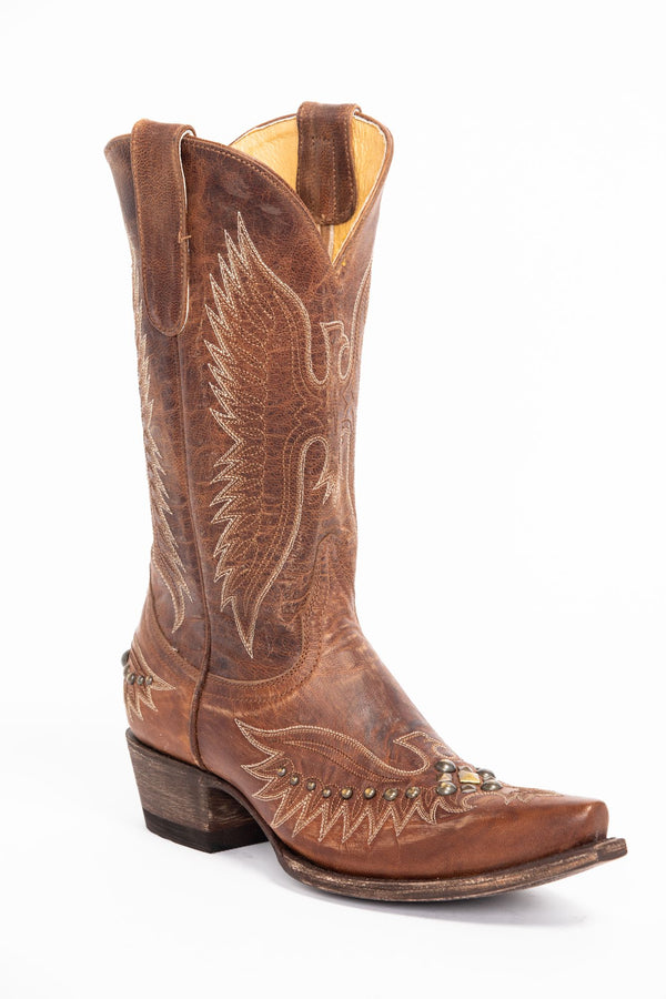 Trouble Western Boots - Snip Toe - Brown