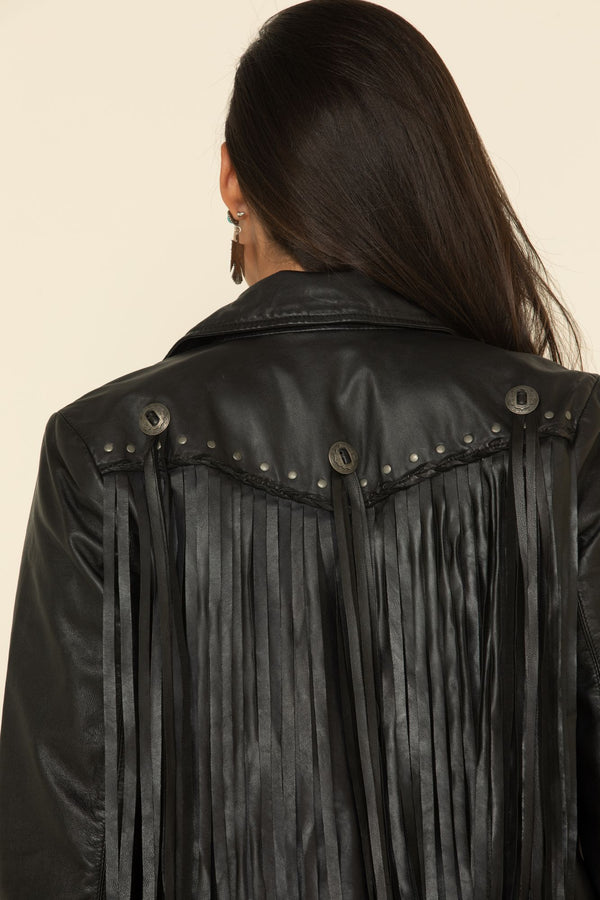 Headline Concho Black Leather Jacket - Black