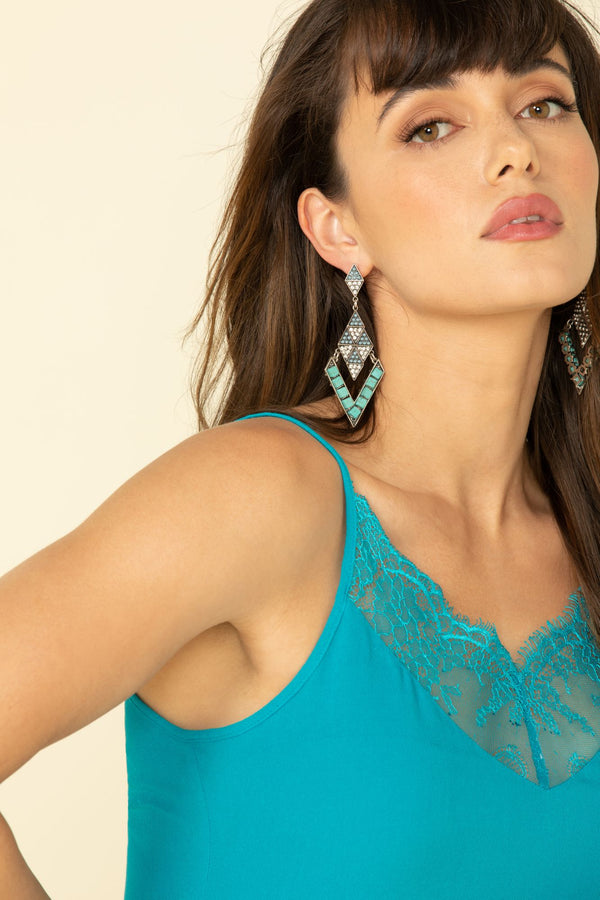 Gone Wild Cami - Turquoise