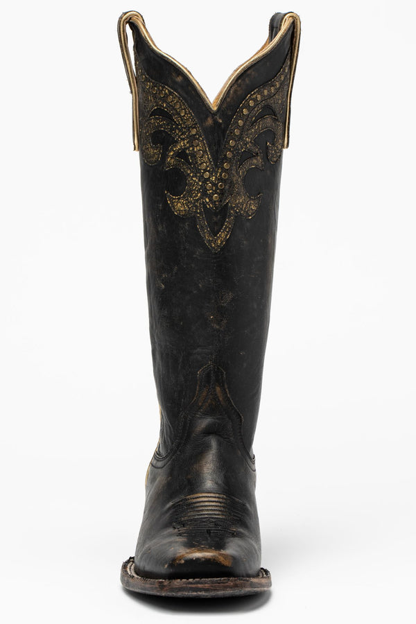 Tough Cookie Western Boots - Narrow Square Toe - Black/tan
