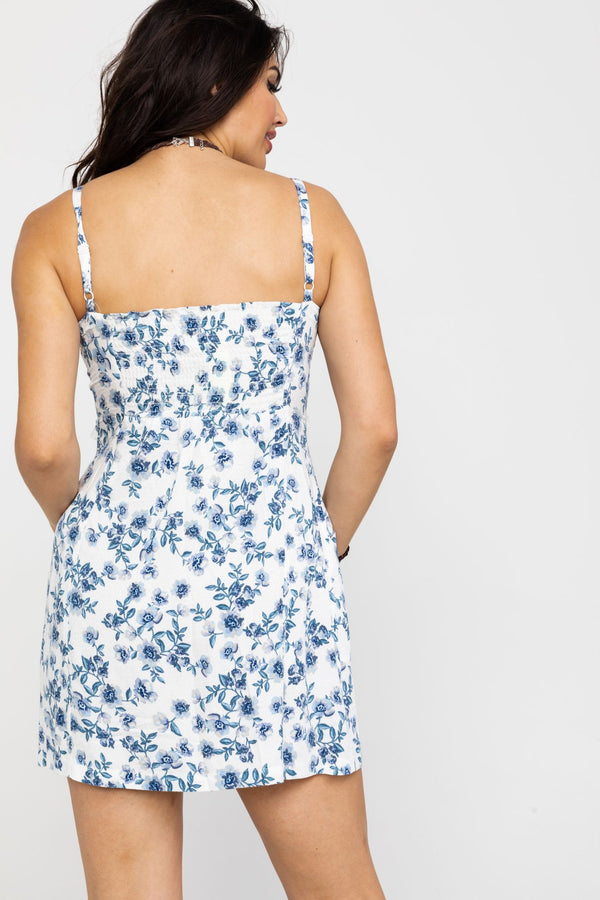 Sunday's Best Floral Mini Dress - Ivory