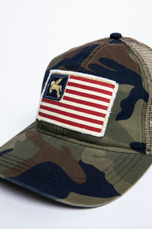 Star Spangled Camo Baseball Hat - Camouflage