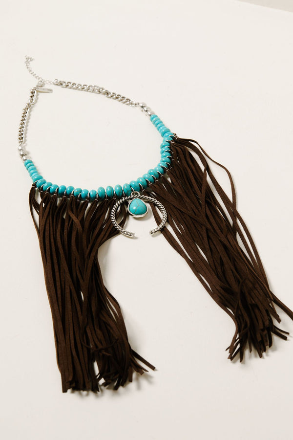 Fringe Me Down Turquoise Necklace