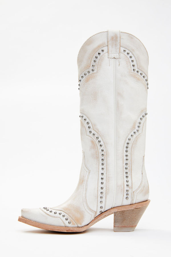 Sinner Western Boots - Snip Toe - White