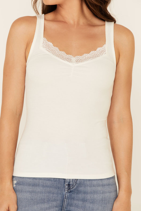Risky Business Tank Top - Ivory