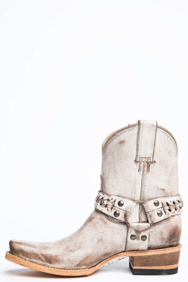 Rock Glace Western Boots - Narrow Square Toe - White