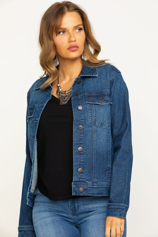 Busy Raising Hell Denim Jacket - Blue