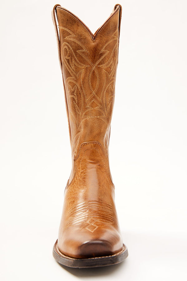 Tumbleweed Western Performance Boots - Wide Square Toe - Tan