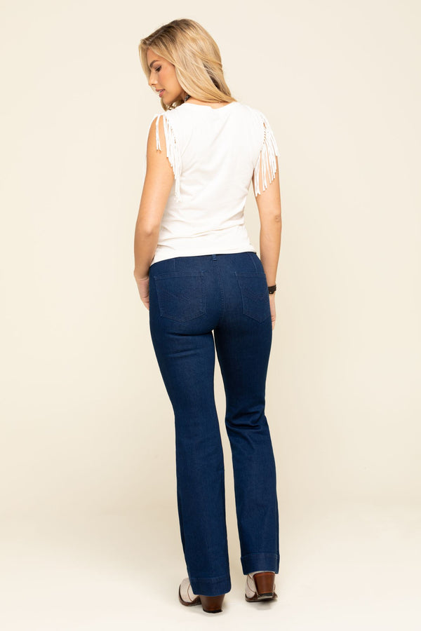 Trouser For All Mid-Rise Trouser Bootcut Jeans - Blue