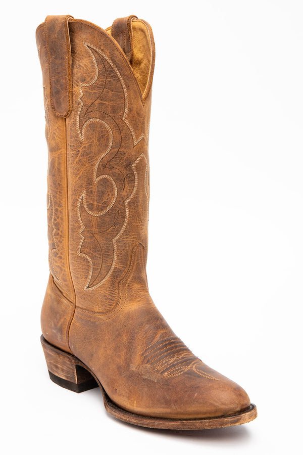Spit Fire Western Performance Boots - Round Toe - Tan