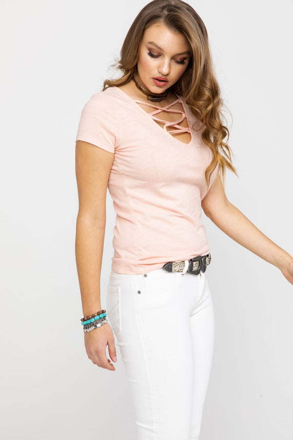 Cross My Heart Trustie Tee - Blush