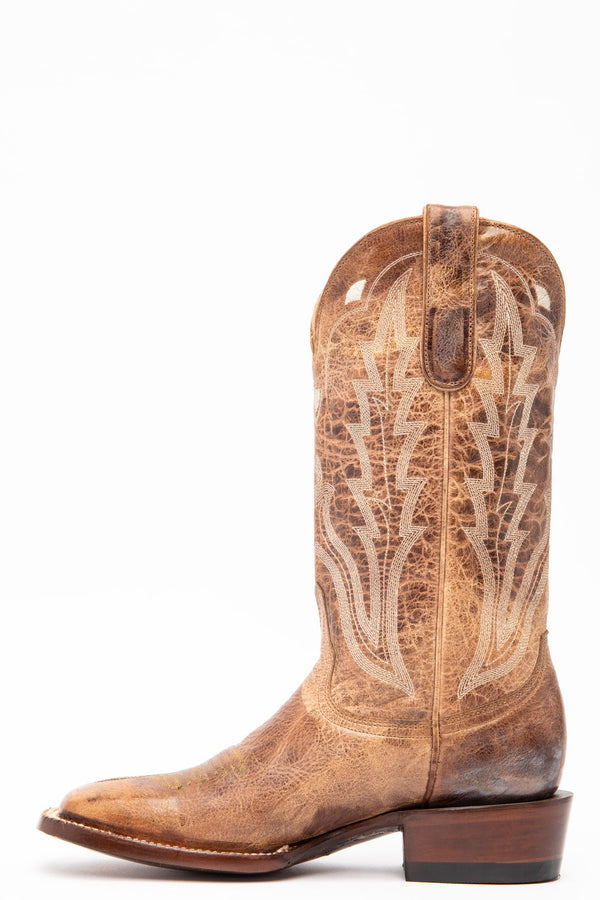 Outlaw Western Performance Boots - Wide Square Toe- Comfort Technology - Taupe