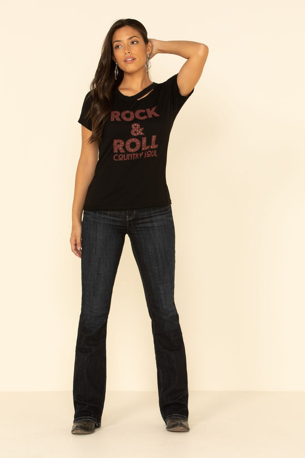 Rock N' Roll Trustie Tee - Black