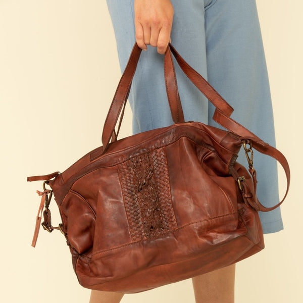 It's Never Full Satchel Bag - Brown