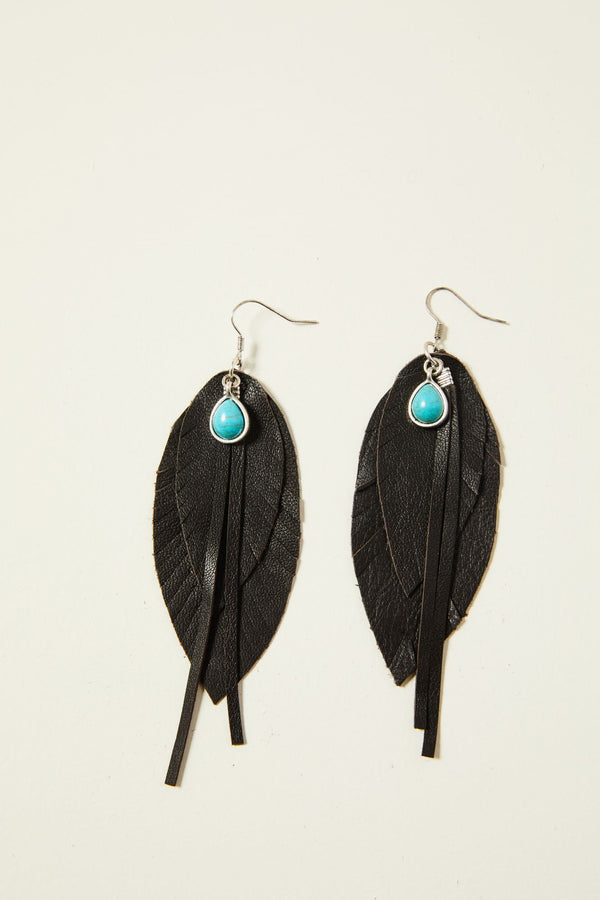 Brown Roots & Wings Earrings - Brown