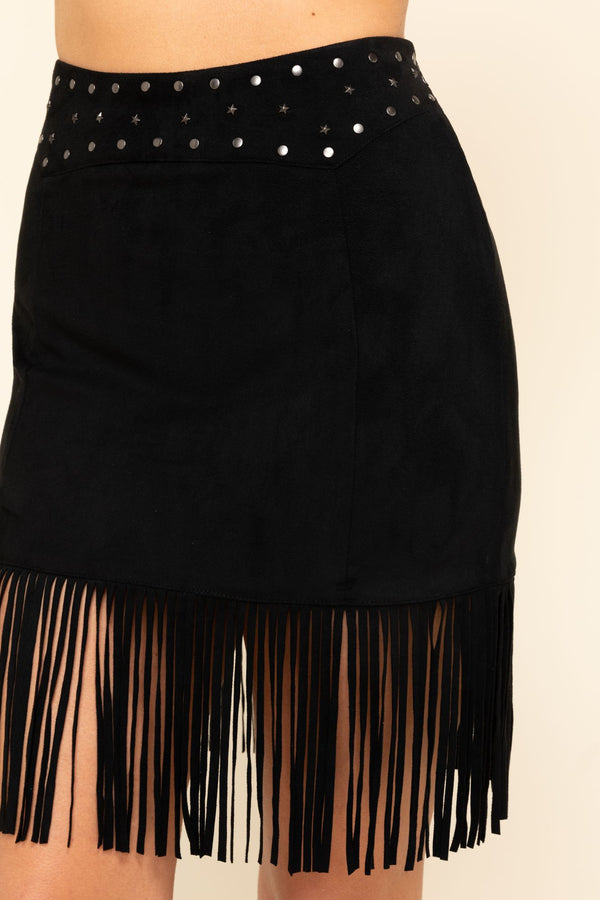 This Is Love Skirt Fringe Skirt - Black