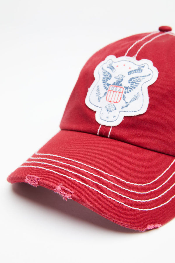 Eagle Eye Ball Cap - Red