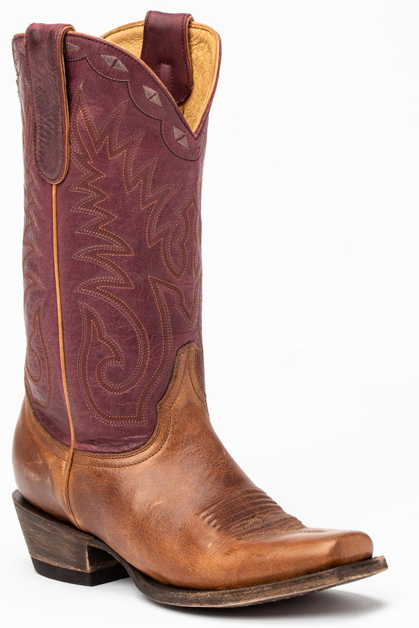 Spur Western Performance Boots - Narrow Square Toe - Brown