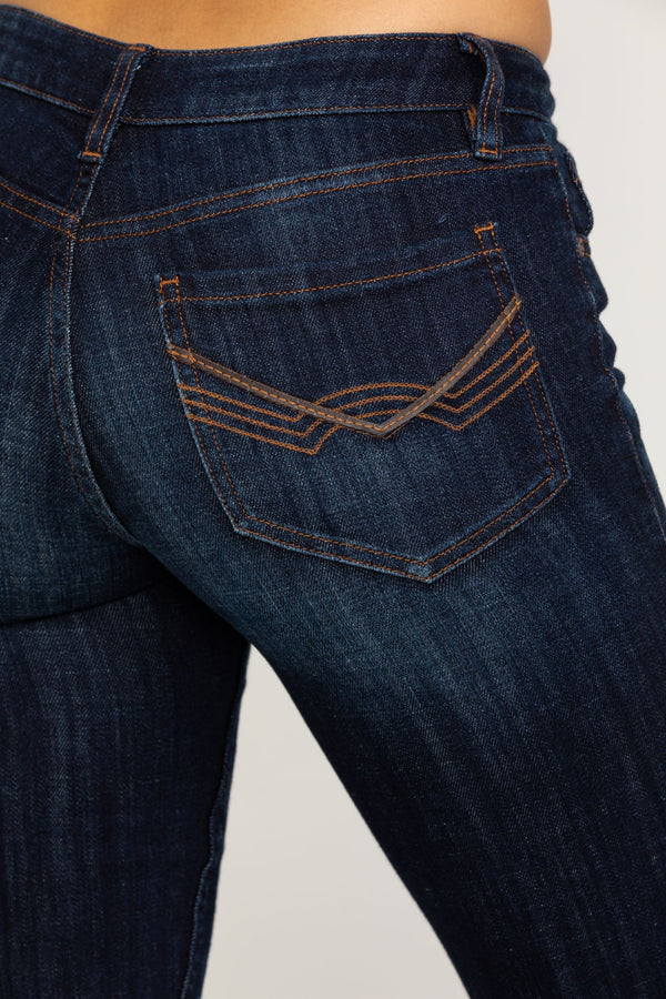 The Rebel Bootcut Jeans - Dark Wash - Blue