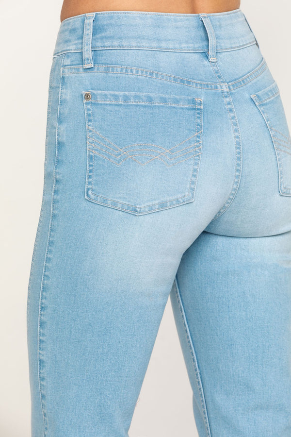 Holston High Rise Fit & Flare Front Seam Jeans - Blue