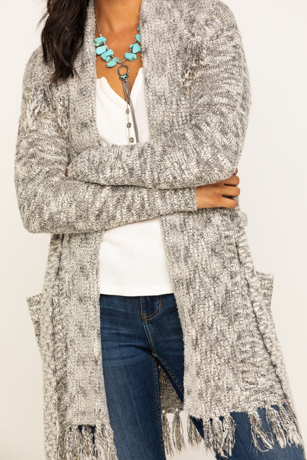 Grit N Knit Cardigan Sweater - Grey