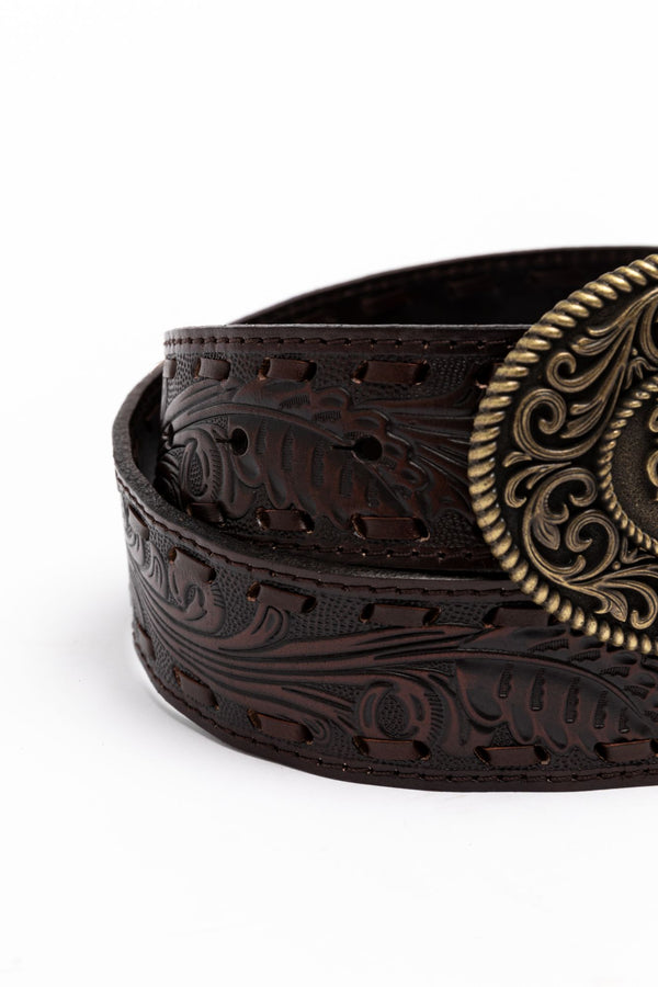 She's The Boss Belt - Brown