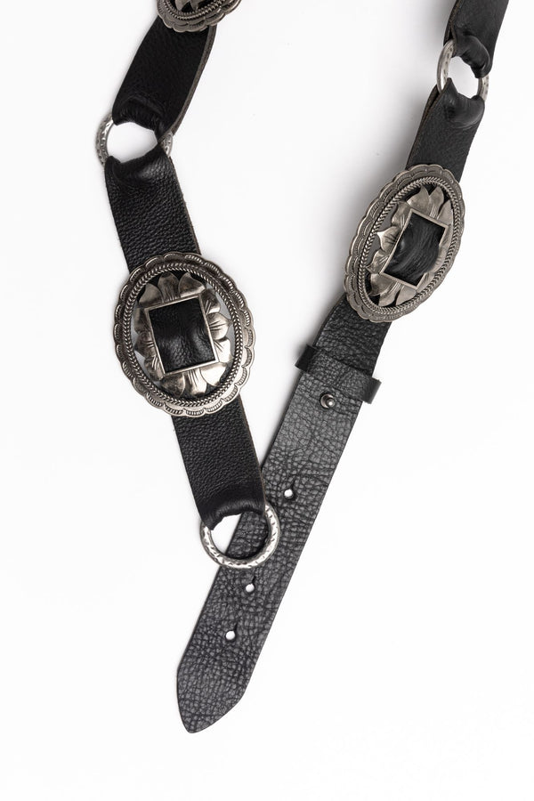 On Repeat Multi Concho Belt - Black