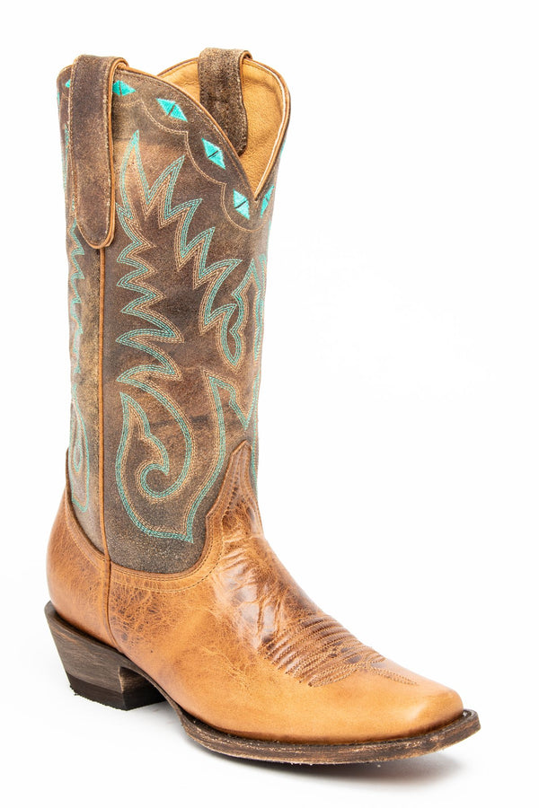 Buckwild Western Performance Boots - Narrow Square Toe - Brown