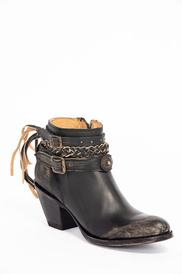 Runaway Booties - Round Toe - Black