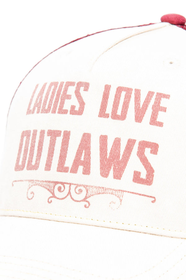 Ladies Love Outlaws Baseball Hat - Ivory