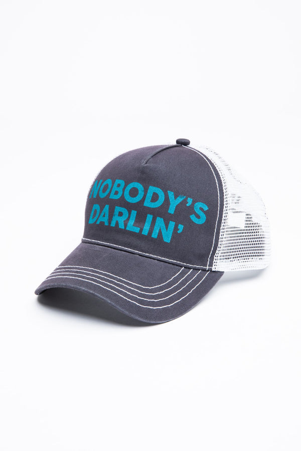 Nobody's Darlin' Ball Cap - Grey
