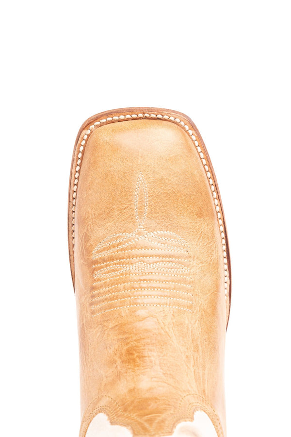 Bold Western Performance Boots - Wide Square Toe - Tan