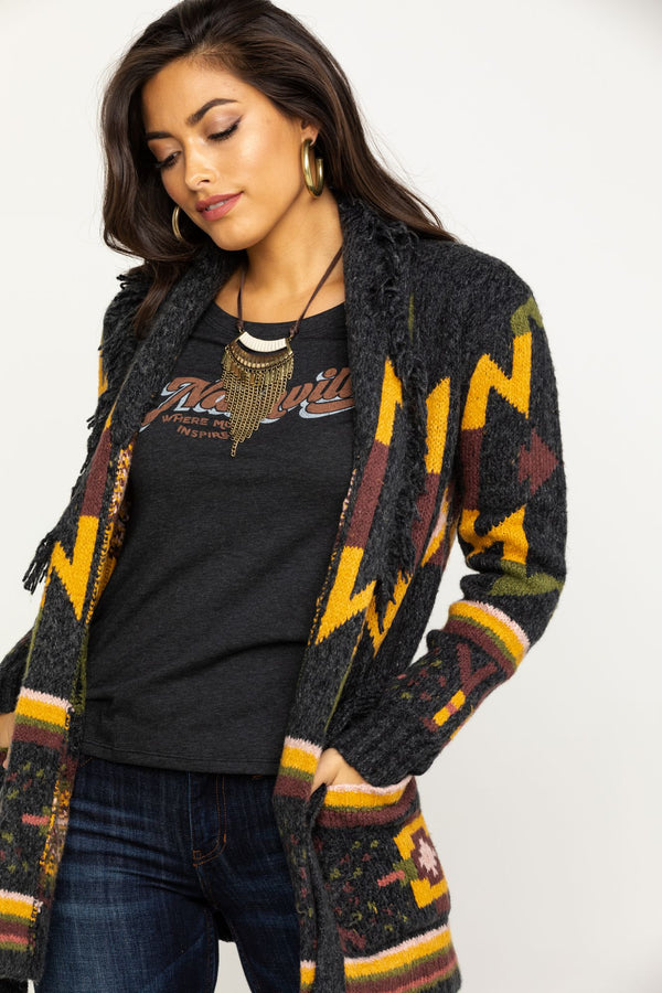 Day Dreamer Cardigan Sweater - Charcoal