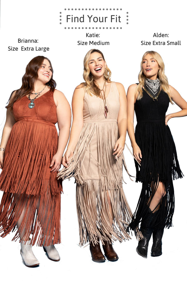 Wild Nights Stone Fringe Dress