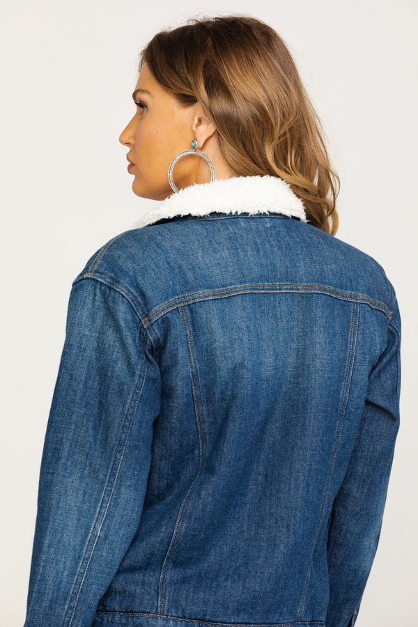 You Want Me Denim Jacket - Blue