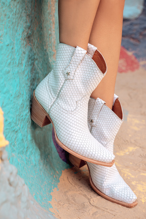 Snake My Way Western Booties - Snip Toe