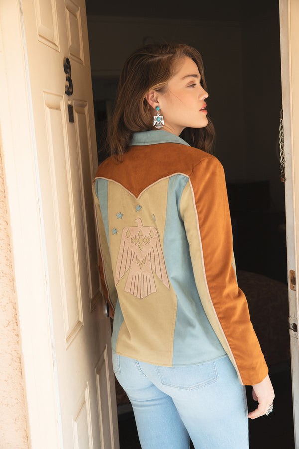 Soaring Star Faux Suede Jacket