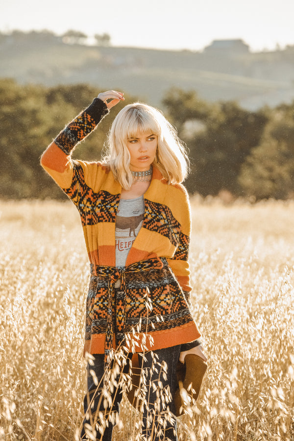 Sunset Romance Cardigan Sweater