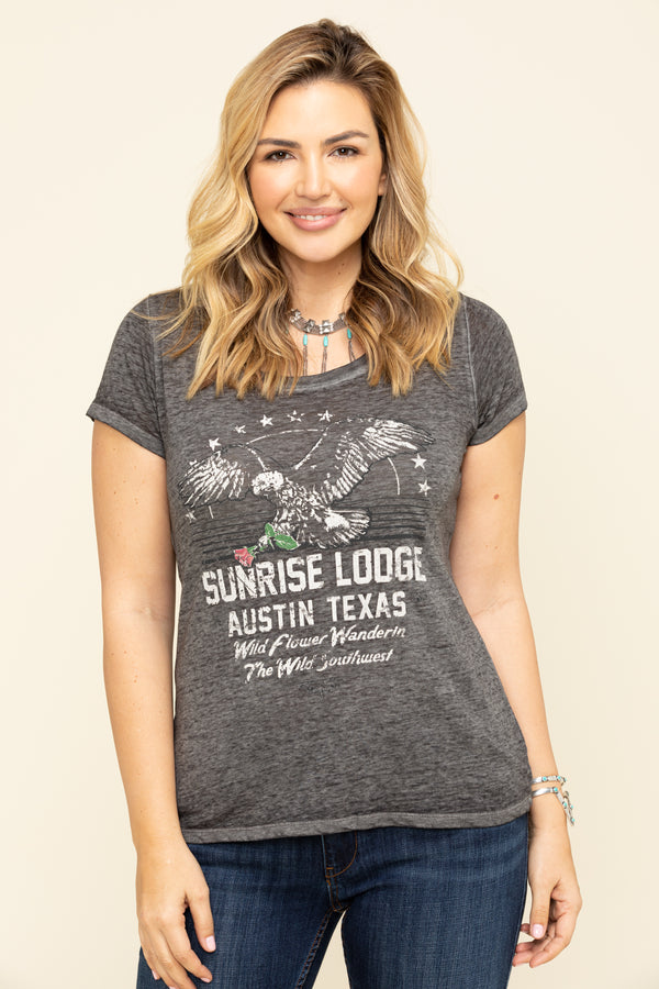 Sunrise Lodge Trustie Tee - Black