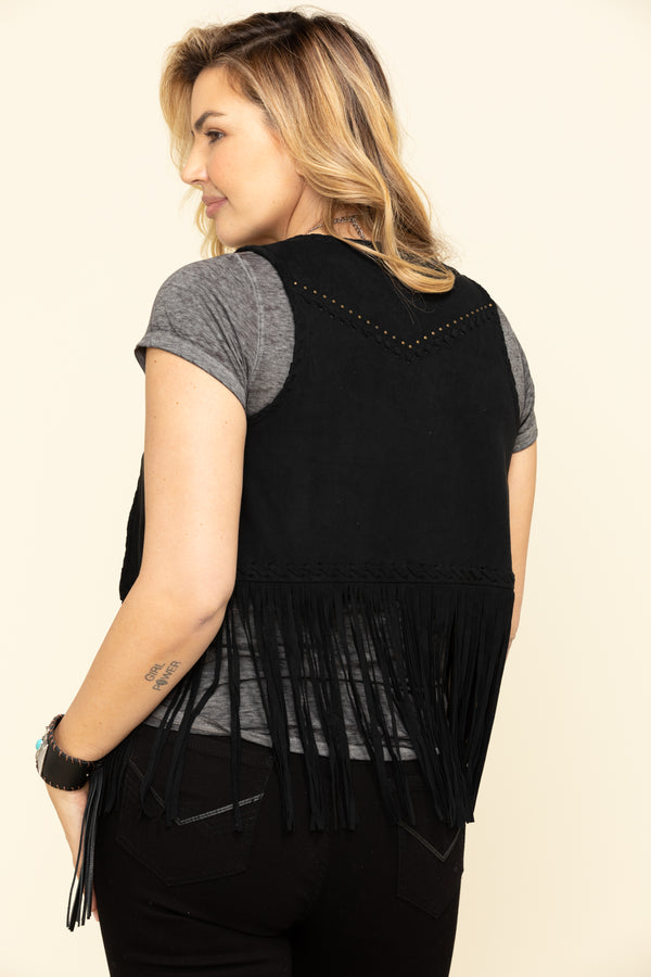 New Strings Fringe Vest