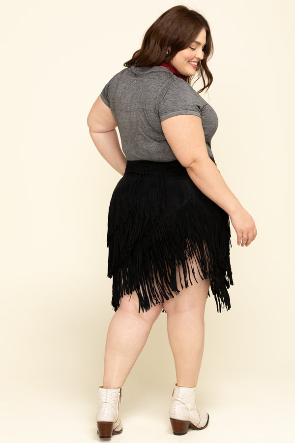 Spellbound Fringe Skirt - Black