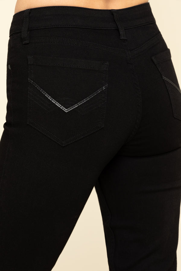 Rebel Midnight Bootcut Jeans - Black
