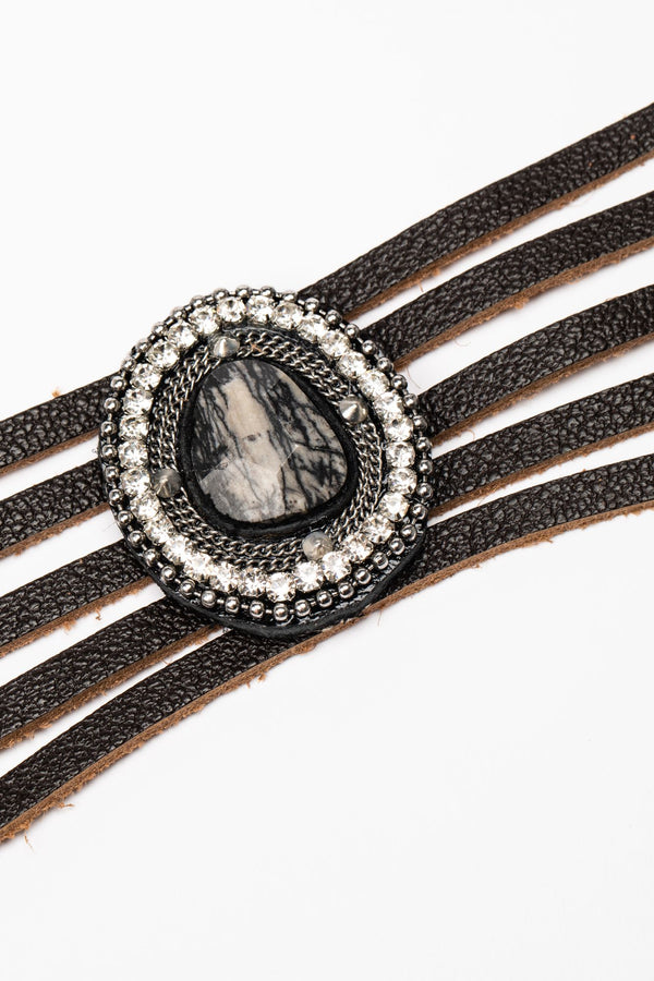 In The Moment Cuff Bracelet - Black
