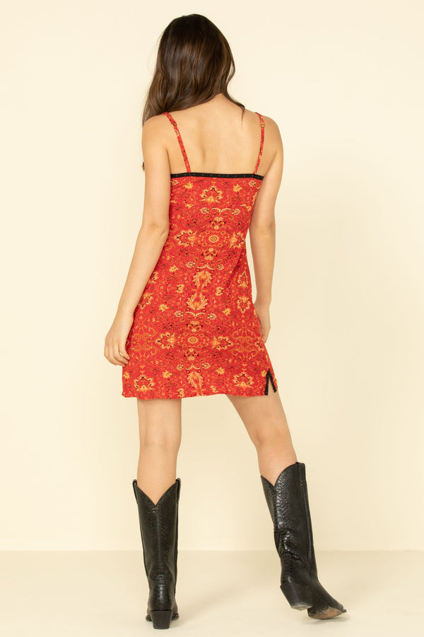 AXL Slip Dress - Red