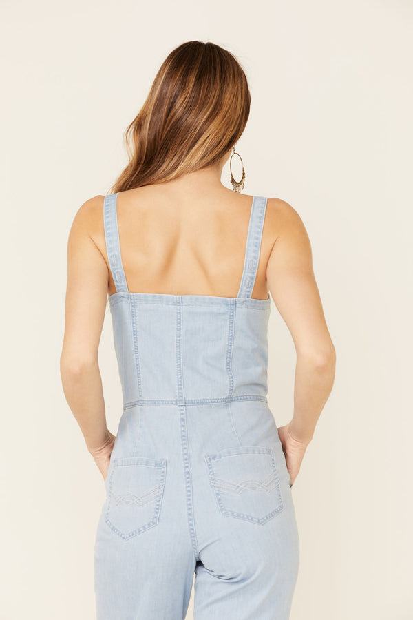 Sunbright Wide Leg Jumpsuit - Light Blue