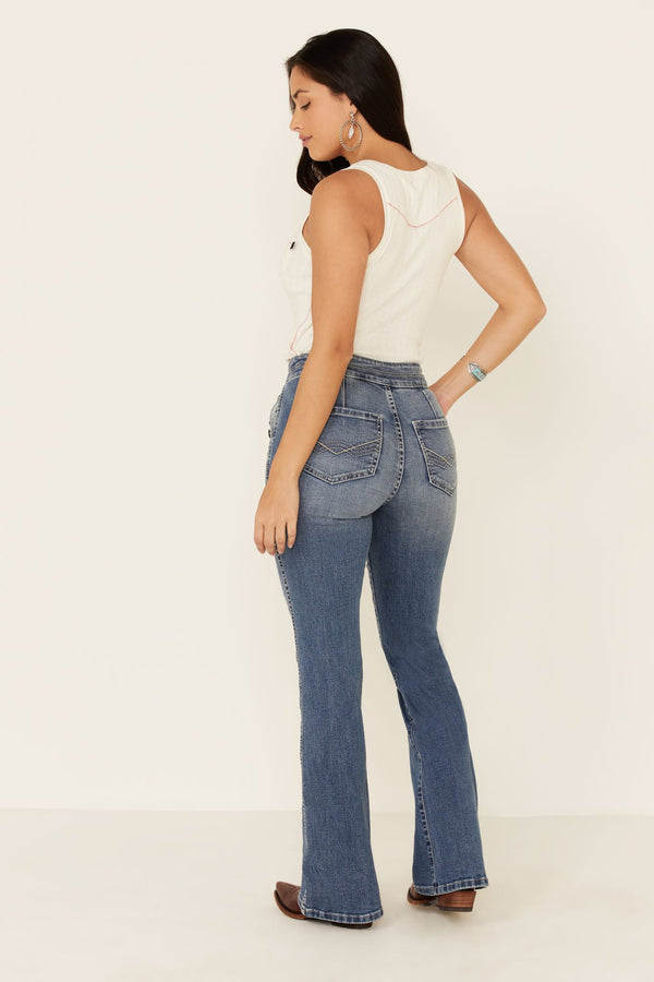 Foxy Lady Bootcut Jeans - Medium Blue