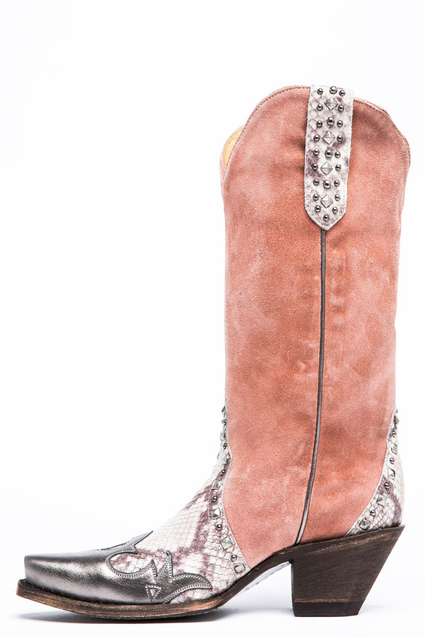 Leap Western Boots - Snip Toe - Blush