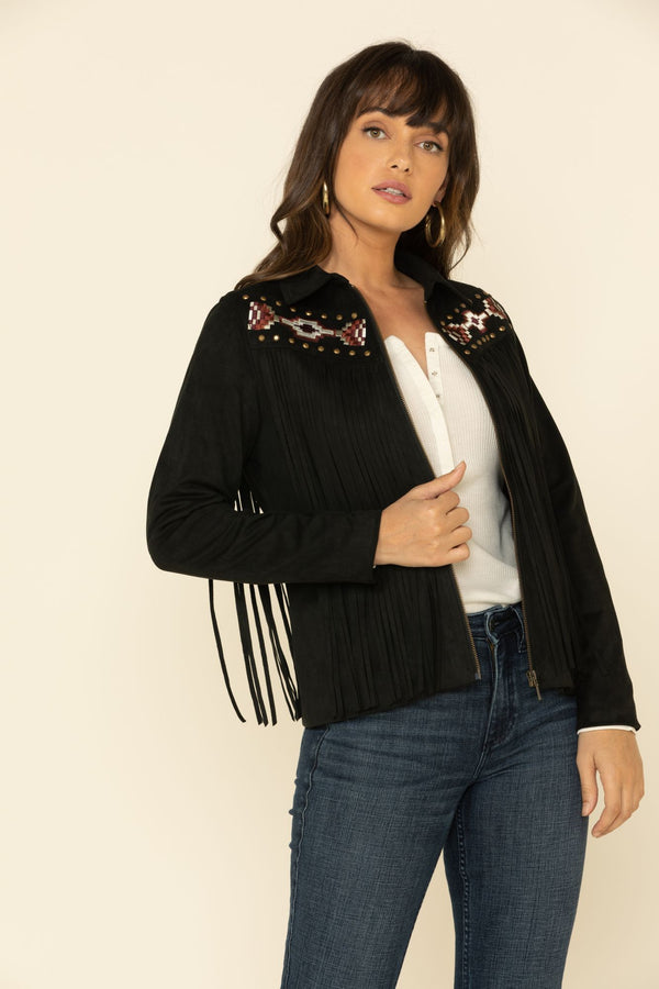 Spell Fringe Jacket - Black