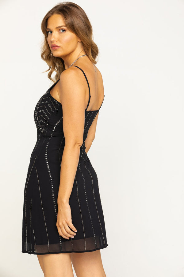 Like What You See Sequin Black Dress - Black