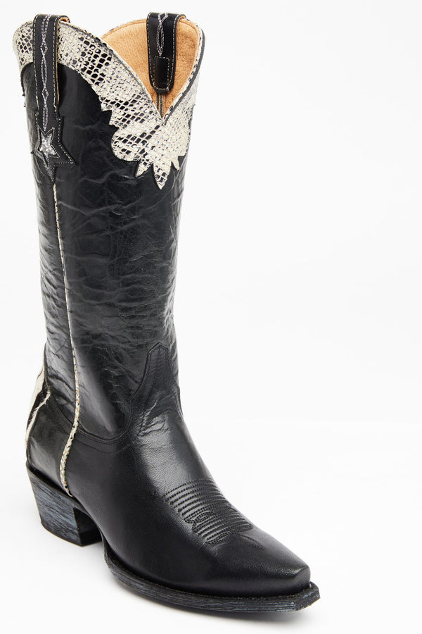 Chaos Black Western Boots - Snip Toe - Black